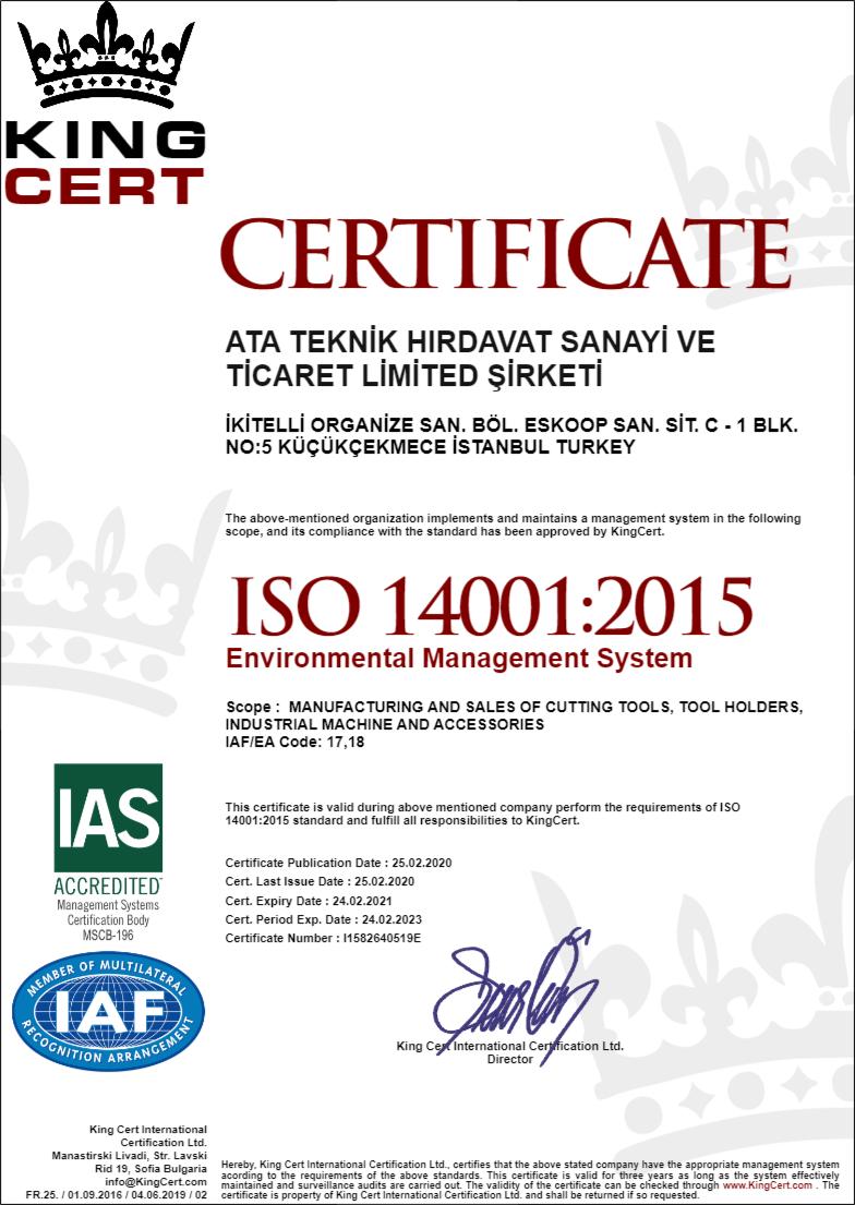 Heikenei ISO14001 Certificate
