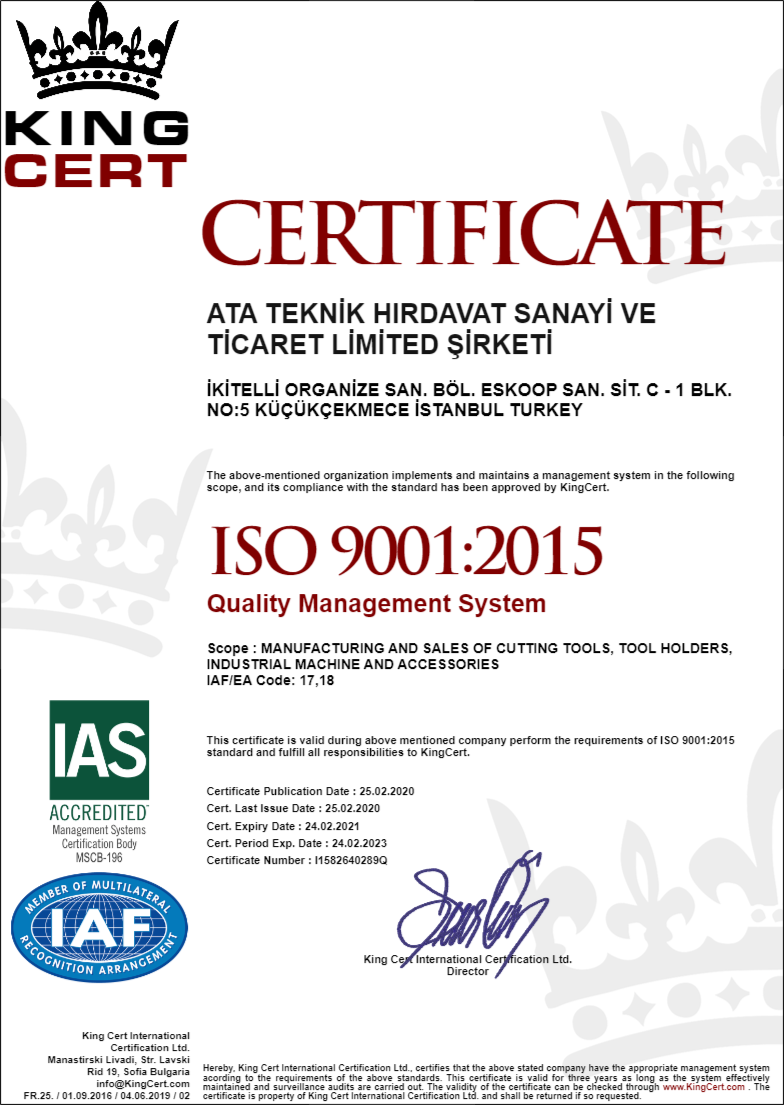 Heikenei ISO 9001 Certificate